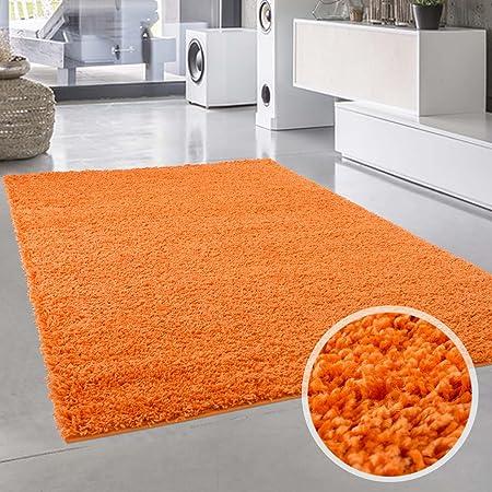 Teppich Uni Langflor Shaggy Modern Einfarbig Rechteckig Wohnzimmer
