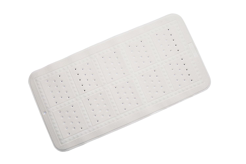 Croydex Hygiene 'N' Clean Anti-Bacterial Slip-Resistant Cushioned Medium Bath Mat, 35 x 70 cm, White BB201022