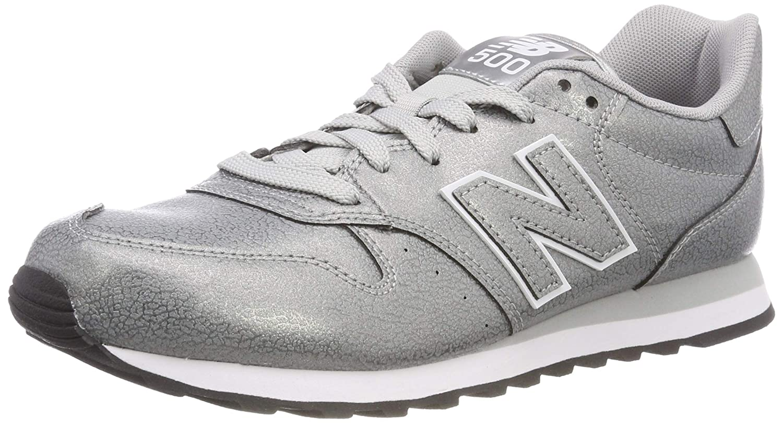 New Balance 500, Zapatillas para Mujer 43 EU|Plateado (Metallic Silver/Metallic Silver Mta)