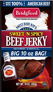 product image for Bridgford Sweet Baby Ray's Sweet 'N Spicy Beef Jerky, High Protein, Zero Trans Fat, Made With 100% American Beef, 10 Oz, Pack of 3
