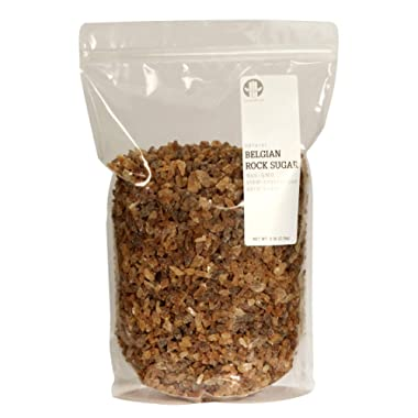 The Sugar Lab Belgian Brown Rock Sugar – 5 Pounds - All Natural Non GMO REAL German Beet Sugar - Teavana Style Coffee Tea Sugar