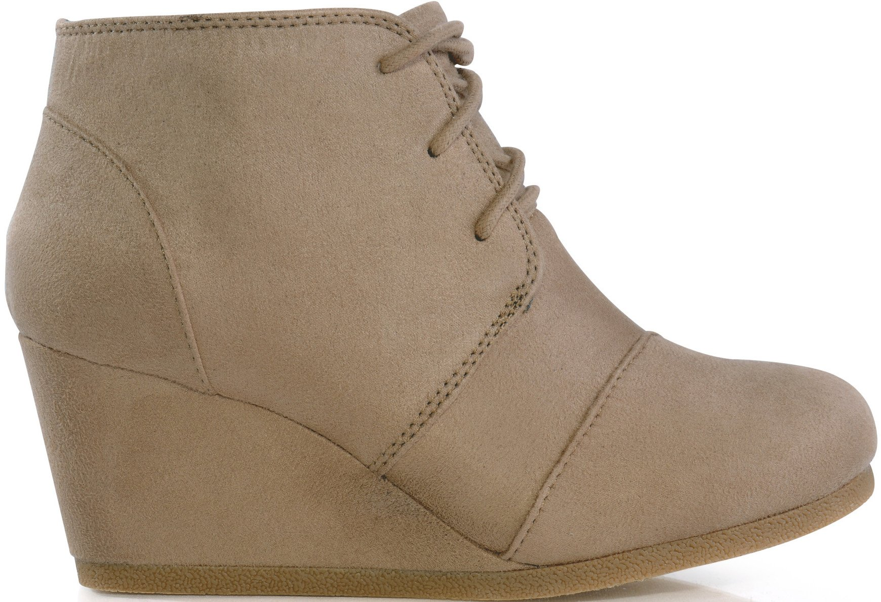 MARCOREPUBLIC Galaxy Womens Wedge Boots - (Taupe) - 10