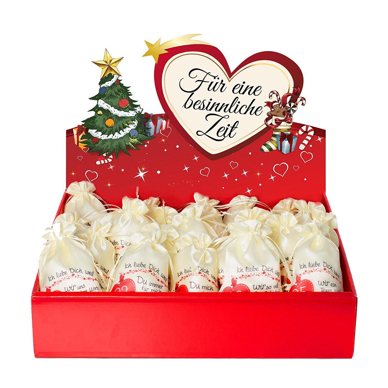 24 Adventskalender Säckchen aus Satin Satin Satin (10x15 cm) m. 24 Gründen Ich Liebe Dich, Weil, (für Erwachsene Männer & Frauen) m. Adventsbox Love f. Weihnachtskalender Adventskalender zum Befüllen B00NAYS26M Adventskalender 9c5d8a