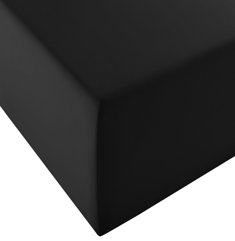 Fleuresse Lenzuolo Comfort XL-in Jersey,per materassi Standard e ad Acqua Beige 100 cm x 200 cm Jersey