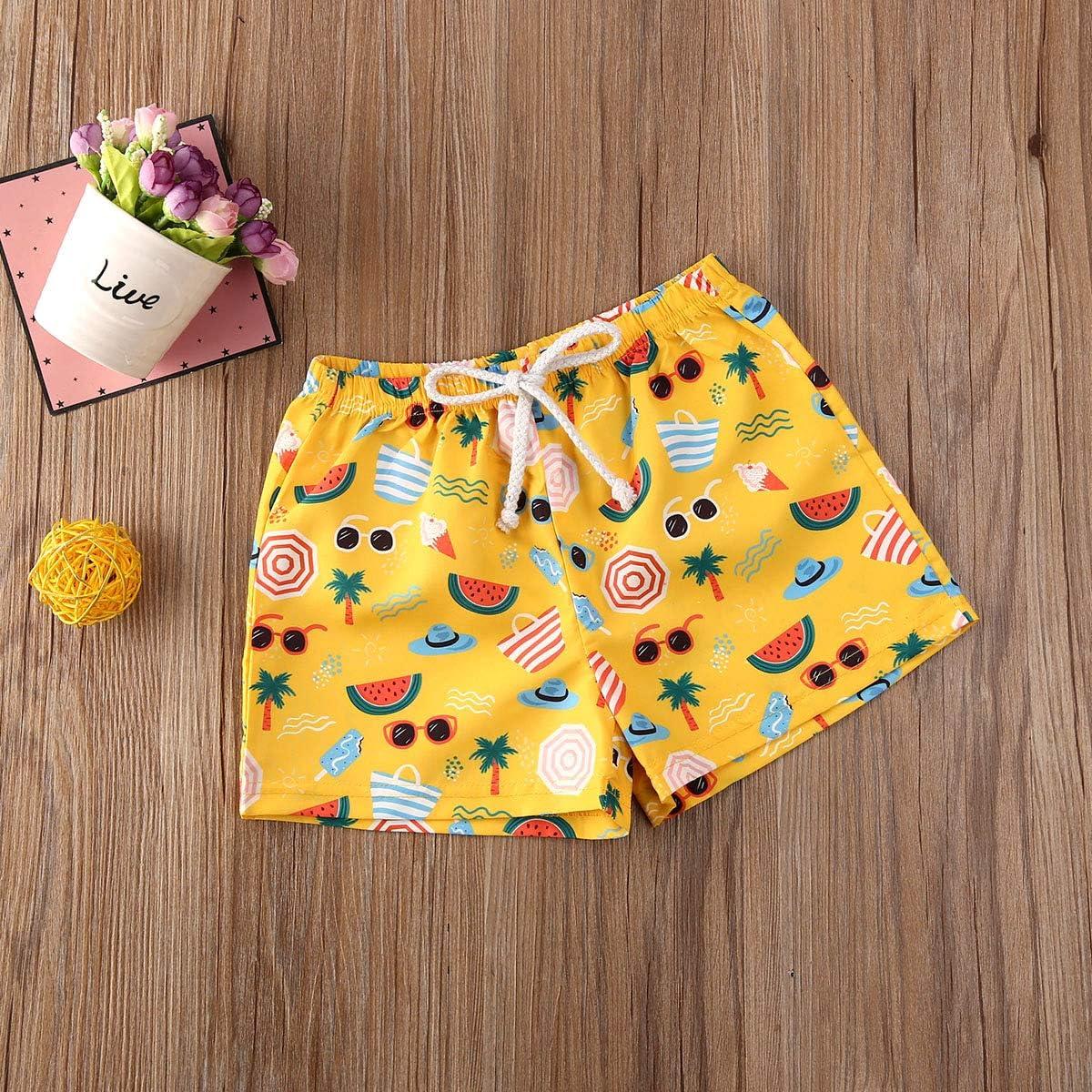 pengnight Toddler Baby Boy Hawaiian Beach Shorts Pineapple Leaf Print Swim Trunks Kids Broad Shorts Surf Swimwear