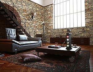 Hot Memory 3D Vintage Embossed Stone Brick Effect Vinyl Wallpaper for Bedroom Living Room TV Background Home Decor HTWB0024