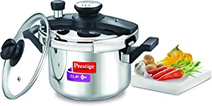 Prestige Clip-on Mini Induction Base Stainless Steel Pressure Cooker with Lid, 3 Litres/180mm, Metallic Silver