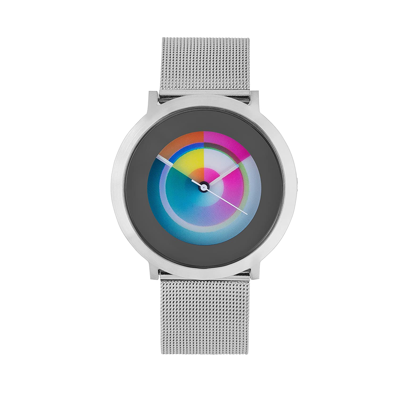 Nobel Rainbow Color Collection - Reloj de pulsera para mujer con correa de piel - Movimiento de cuarzo suizo: Amazon.es: Relojes