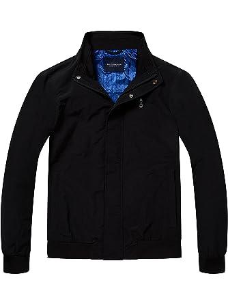 c22f0b09ad7c Scotch   Soda Herren Jacke Simple AMS Blauw Harrington Jacket, Schwarz  (Black 90)