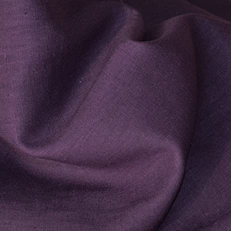100 linen fabric eggplant aubergine superior quality french plain linen solid fabric with