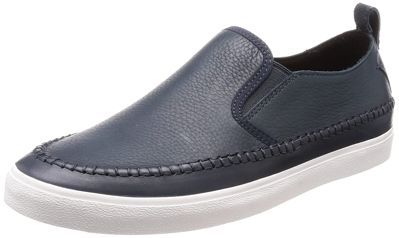 Clarks Kessell Slip, Mocasines para Hombre 40 EU|Azul (Navy Leather)