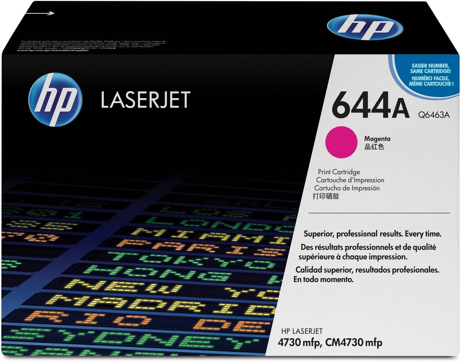 HP 644A | Q6463A | Toner Cartridge | Magenta | DISCONTINUED BY MANUFACTURER