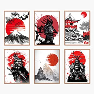 YUMKNOW Japanese Art Wall Decor - Unframed 8x10