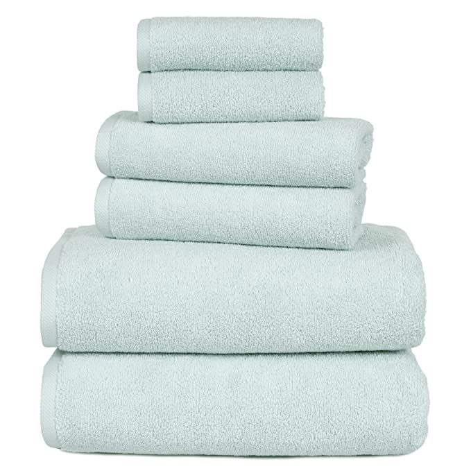 Amazon.com: 100 Percent Cotton Towel Set, Zero Twist, Soft and Absorbent 6 Piece Set With 2 Bath Towels, 2 Hand Towels and 2 Washcloths (Taupe) By Lavish ...