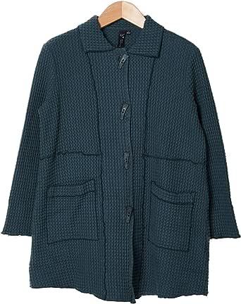 Focus Fashion Women's Cotton Waffle Long Jacket BW-112