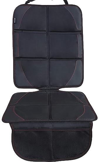 Autositzauflage Für Kindersitz Von Zaroso Isofix Geeignet Auto Kindersitzunterlage Wasserabweisend Autositzschutz Universelle Passform Premium 600d Royal Oxford Material In Schwarz Baby