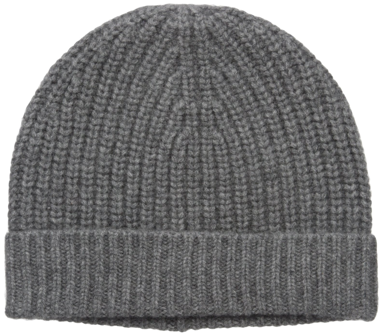 Sofia Cashmere Women's 100% Cashmere Shaker Rib Hat, Nightmist Grey, One Size