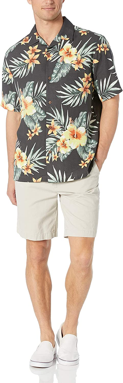 28 Palms Mens Relaxed-Fit 100/% Silk Tropical Hawaiian