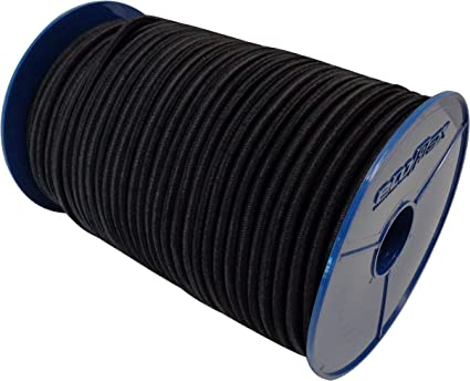 Seilwerk STANKE Gummiseil Expanderseil Rot 8 mm 5 Meter Gummileine Spannseil Planenseil Gummischnur