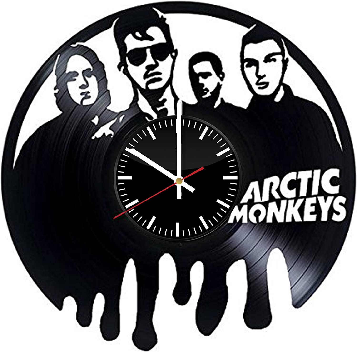 Amazon Com Arctic Monkeys Vinyl Record Wall Clock Get Unique Bedroom Or Kitchen Wall Decor Gift Ideas For Adults And Youth Best Rock Music Band Unique Modern Art Home Kitchen
