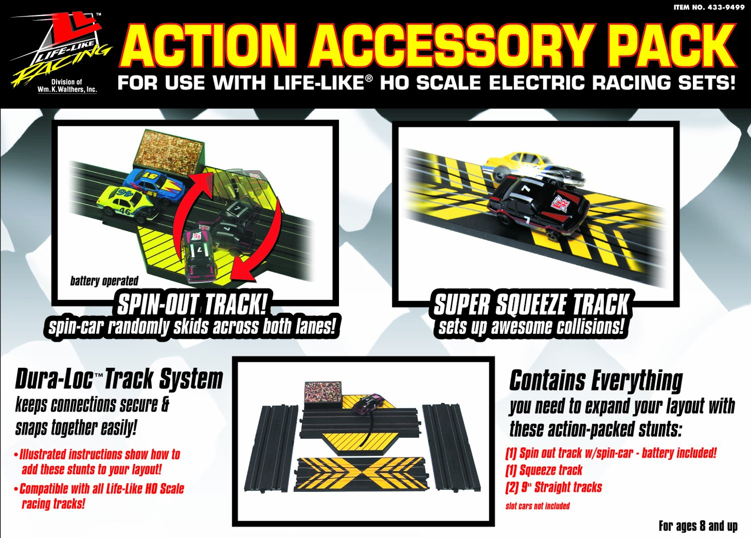 Life Like Action Accessory Dura Lockrace Track Pack Ho Slot Car Racing Power Wiring Toys Games