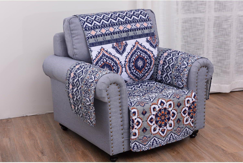 Greenland Home Medina Slipcover, Arm Chair, Saffron