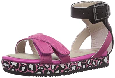 6a6719ddd Image Unavailable. Image not available for. Colour  Clarks Girls  Zeps Dew Inf  Open Toe Sandals Pink ...