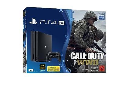 Playstation 4 Pro Konsole 1tb Inkl Call Of Duty Wwii Amazon