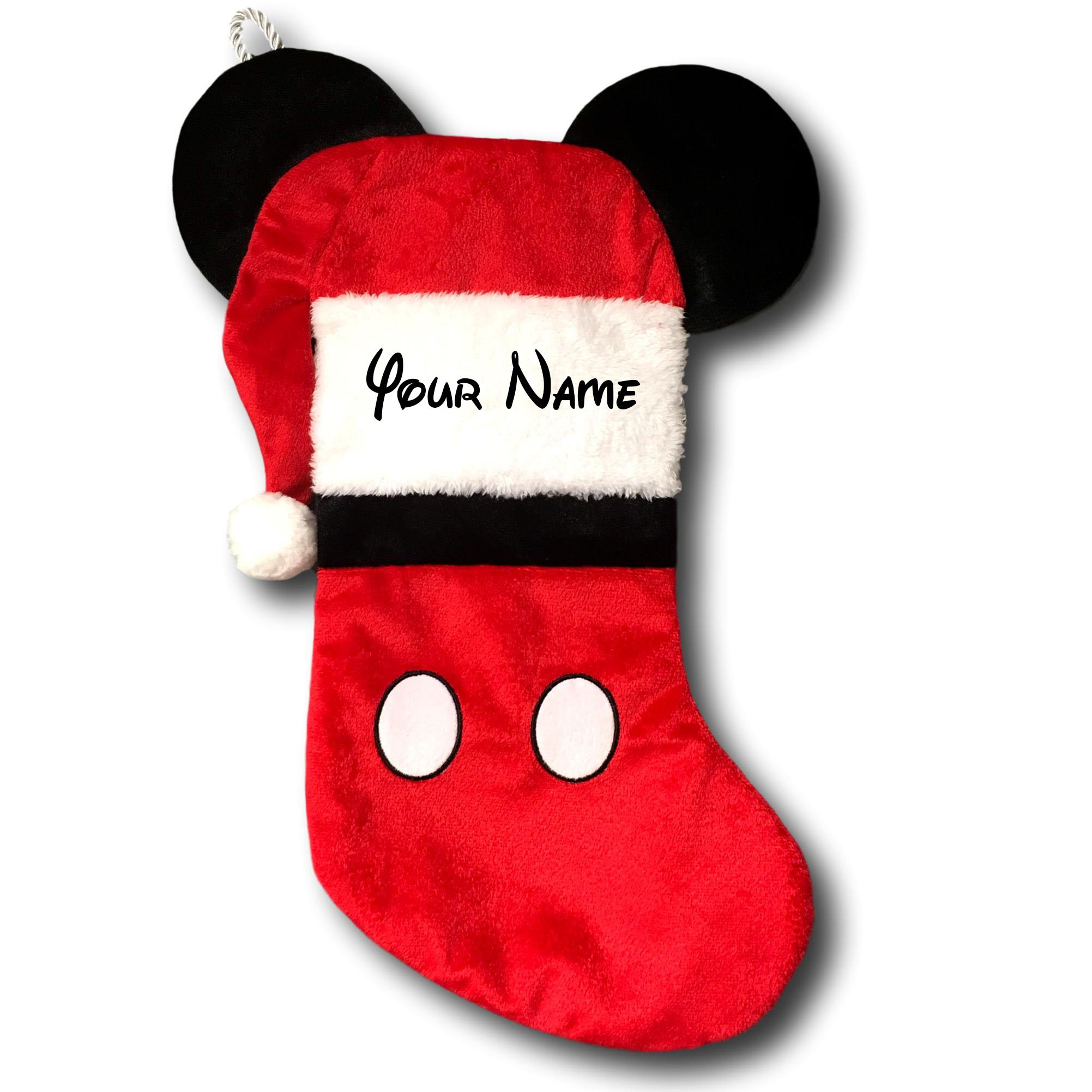Personalized Disney Mickey Mouse Christmas Stocking with Ears - 19 Inches