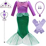 Little Mermaid Cosutme Princess Dresses Ariel Dress for Grils Birthday Party Halloween Cosplay Costumes 3-10Years