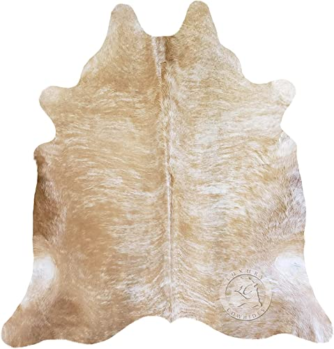 Palomino White and Beige Cowhide Rug 6ft x 8 ft 180cm x 240 cm