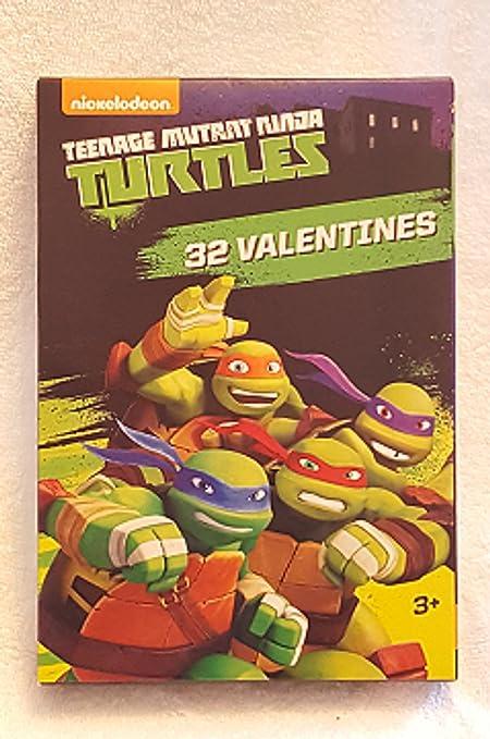 Amazon.com: Valentines Day 32 Teenage Mutant Ninja Turtles ...