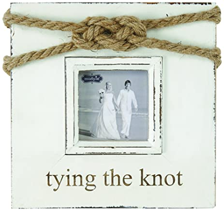 mud pie tying the knot frame gold - Mud Pie Picture Frames