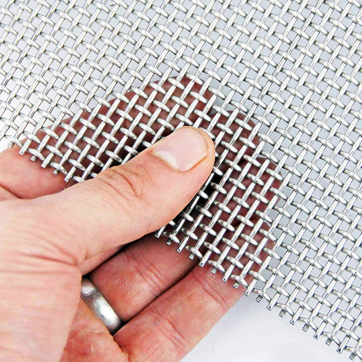 Heavy Duty (6 LPI x 2.6mm Hole x 1.6mm Wire) Stainless Steel Mesh - A3 x 3 The Mesh Company