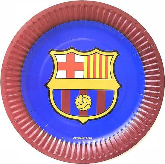 Amazon.com: FC Barcelona - Juego de 10 platos de papel para ...