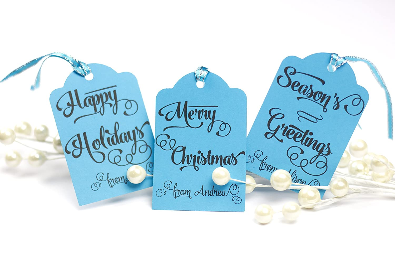 ce8a2a1b25196 Amazon.com: Personalized Gift Tags Christmas Whimsical, Personalized ...