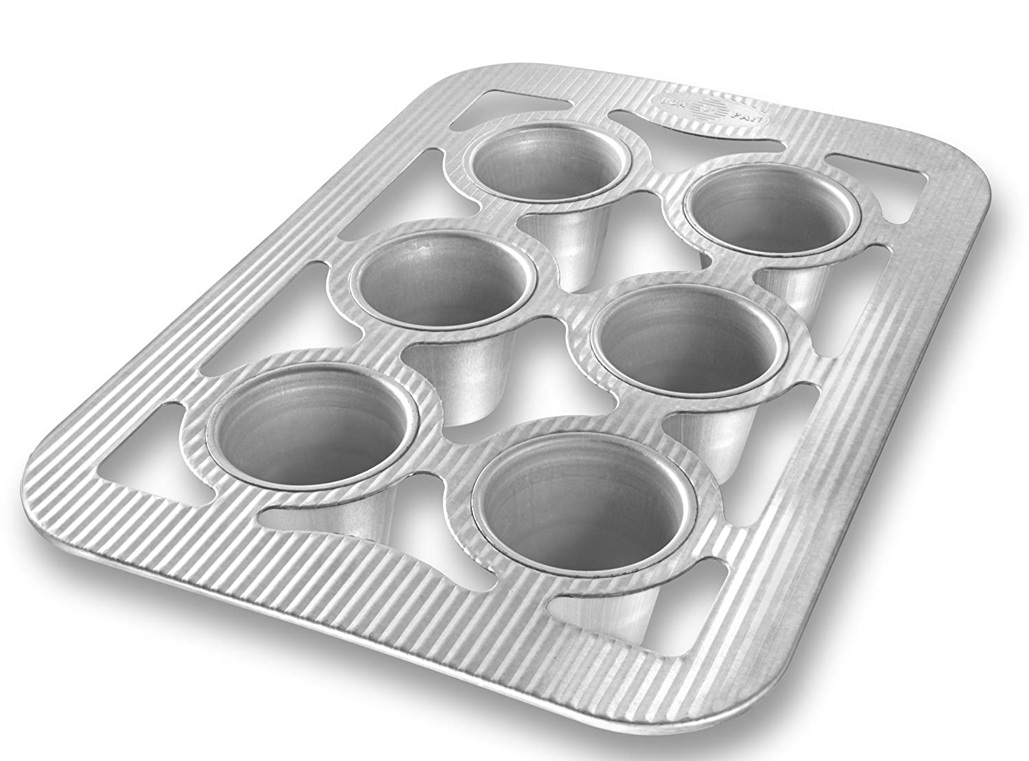 USA Pans 1290PO 6-Well Popover Pan, Silver