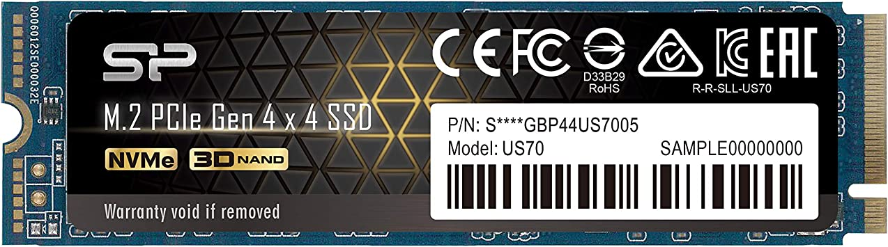 SP01KGBP44US7005 Silicon Power 1TB NVMe 4.0 Gen4 PCIe M.2 SSD R//W up to 5,000//4,400 MB//s