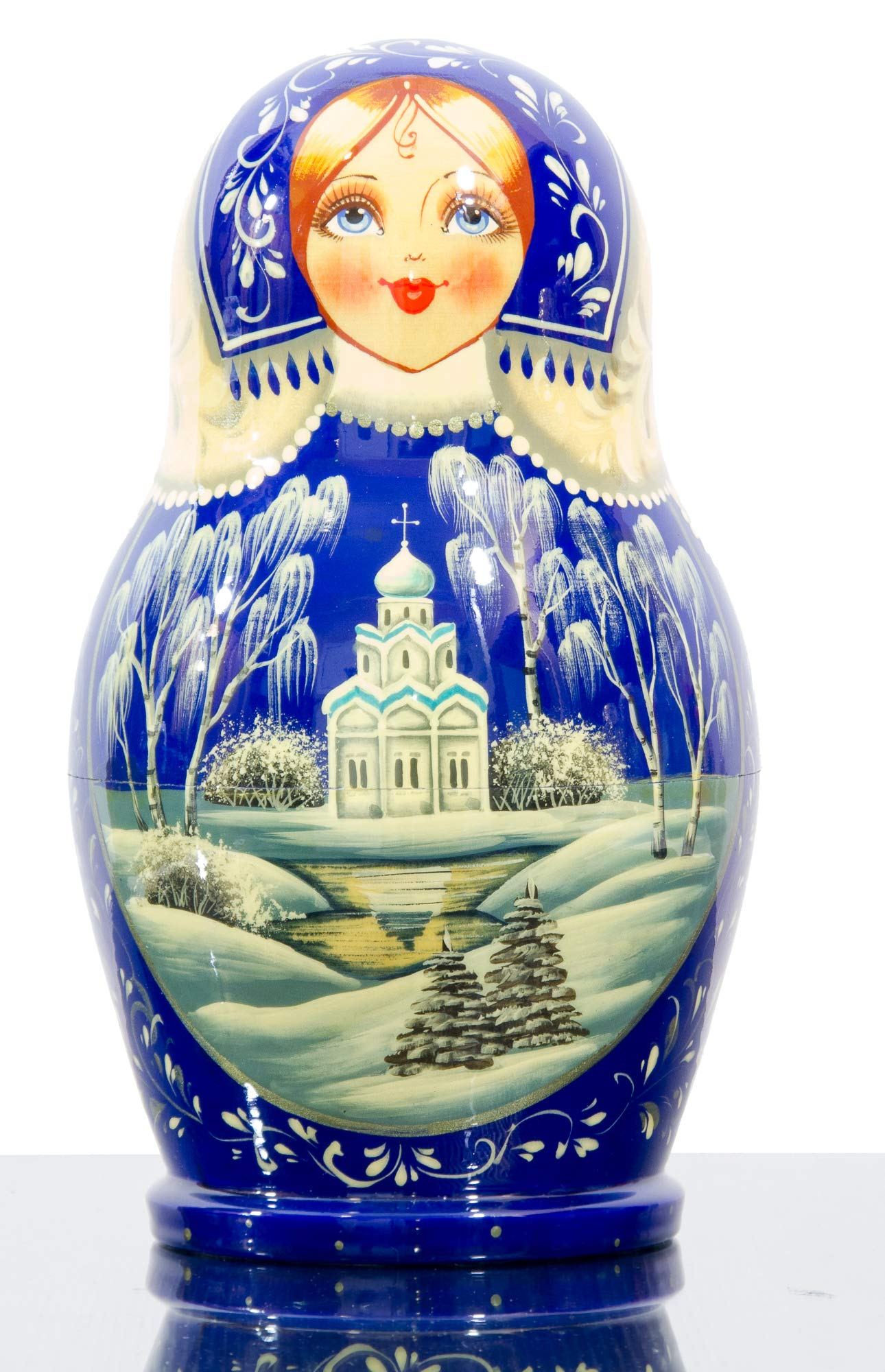 Russian Nesting Doll - Kirov - VJATKA - Hand Painted in Russia - Big Size - Wooden Decoration Gift Doll - Matryoshka Babushka (Style E, 8.25``(10 Dolls in 1)) by craftsfromrussia (Image #7)