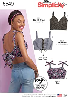 product image for Simplicity Learn Women's Bralette Sewing Patterns, Sizes XXS-XXL