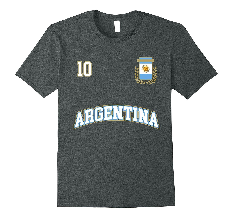 Argentina Shirt Number 10 Soccer Team Sport Seleccion Futbol-RT