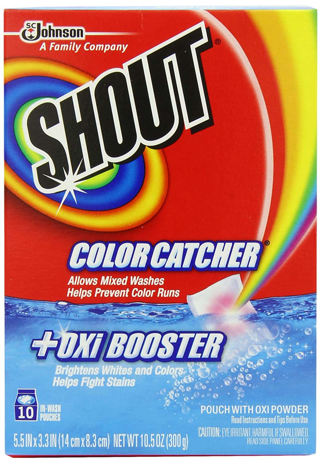 Colour catcher sheets - Amazon Com Shout Color Catcher With Oxi 10 Count Pack Of 2 Health Personal Care