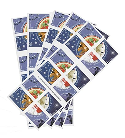 christmas carols usps forever stamps book of 20 new 2017 release pack