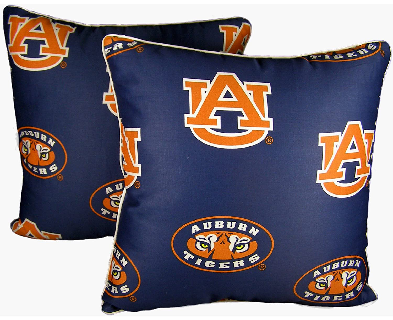 College Covers Auburn Tigers 16 x 16 Decorative Pillow Includes 2 Decorative Pillows