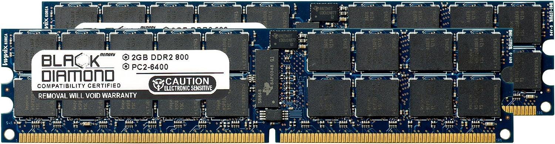 2x2GB Memory RAM Compatible with Dell PowerEdge M805 5300 DDR2 ECC REG 4GB