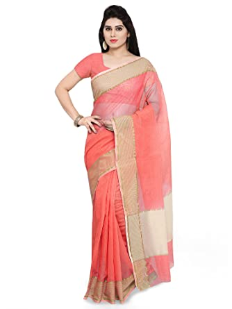 2b9580f227 Paroma Art Women's Super Net Saree with Unstitched Blouse Piece  (Pink_NYK104): Amazon.in: Clothing & Accessories