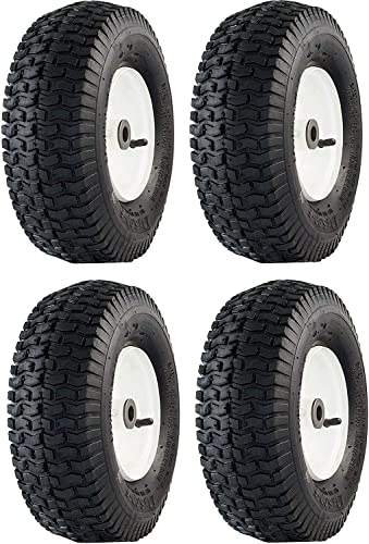 Marathon FBA_20336 13×5.00-6 Pneumatic Air Filled Lawnmower Tire on Wheel, Single New Pack of 4