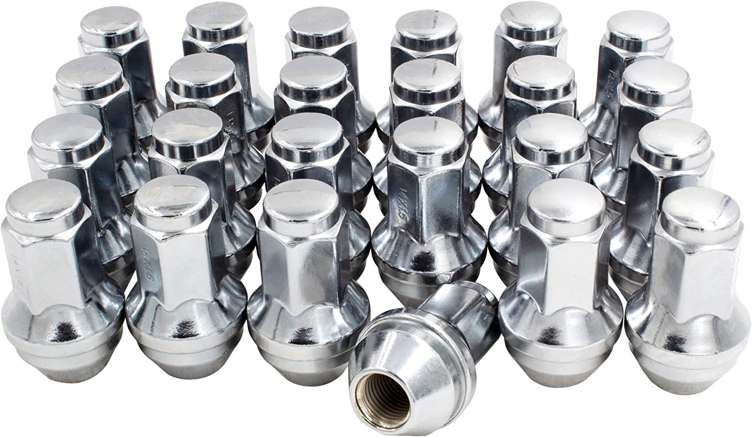 Buyer Needs to Review The spec 20pcs 2.32 Chrome M14 X 2 Wheel Lug Nuts fit 2007 Lincoln Mark LT May Fit OEM Rims