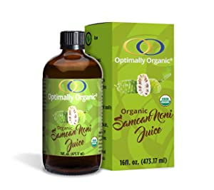 100% Pure Organic Fermented Samoan Noni Juice, 16 fl. Oz. - Good Digestive Health - Brings Energy and Life - Cleanses the Colon