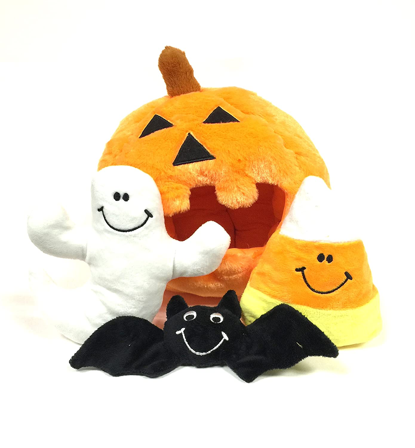 Pet Supplies Pumpkin Find a Toy Halloween Dog Toy by Midlee